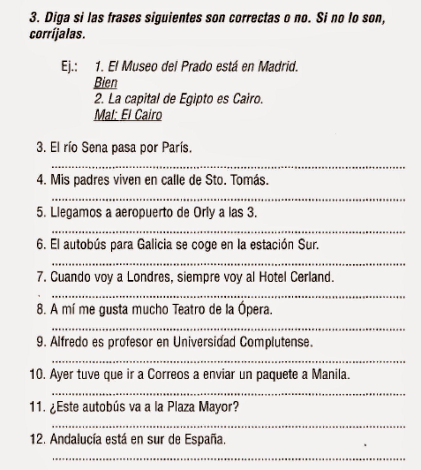 Aprende Espanol Los Articulos Determinados E
