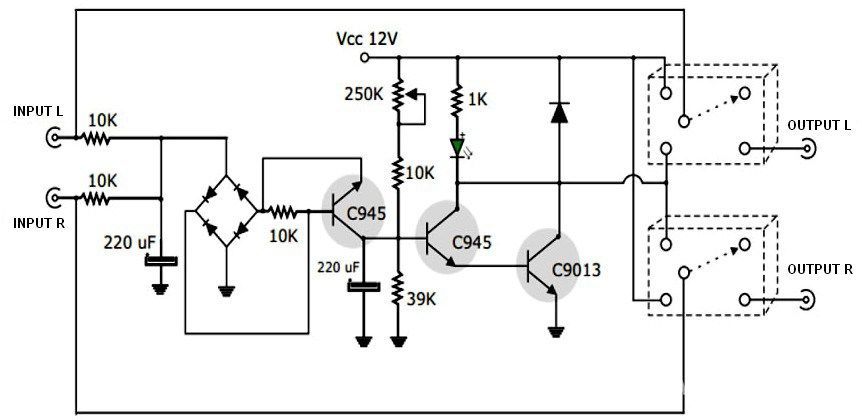 This is a simple active speaker protector circuit which