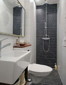 Feature tiling the back wall of bathroom makes whole thing look also best images about bath on pinterest rh