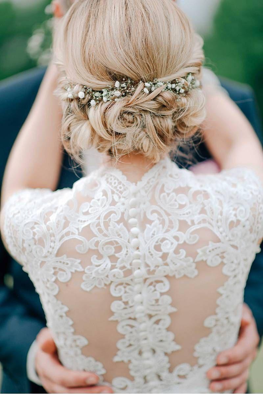 Die besten 25 Hochzeitsfrisuren Ideen auf Pinterest