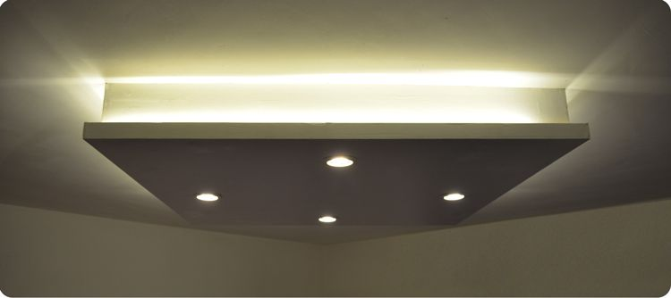 dropped ceiling light box