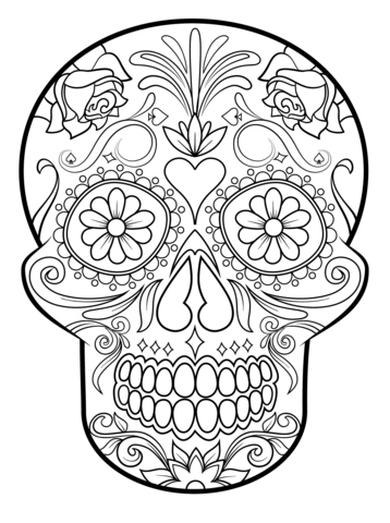 Sugar Skull coloring page from Sugar Skulls category