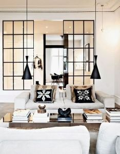 At home with fashion designer naja munthe  always love seeing how   distinctive looks also translate into their homes office ider windows pinterest beautiful space divider and rh
