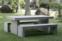 Concrete Garden Table and Benches