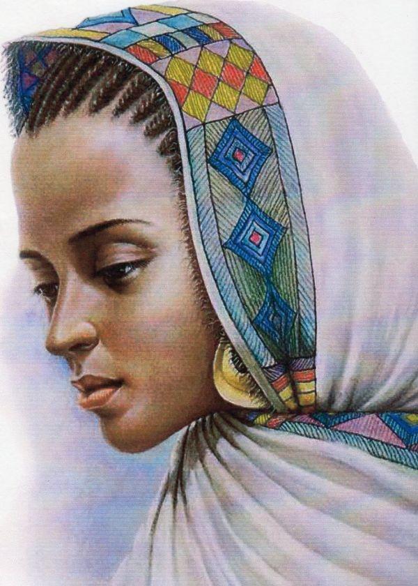 Black Women Queen Art Pipercarter Ethiopian