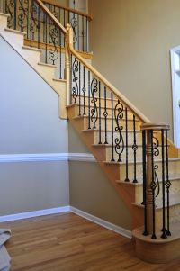 wood and rod iron staircase | ... - Upgrade your staircase ...