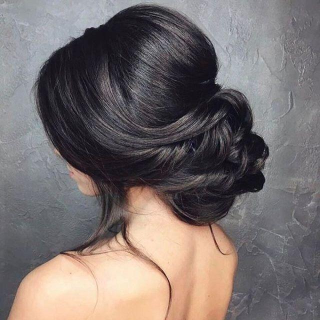 Low  bun wedding  hair  Bridal  chignon Low  updo  and Chignons