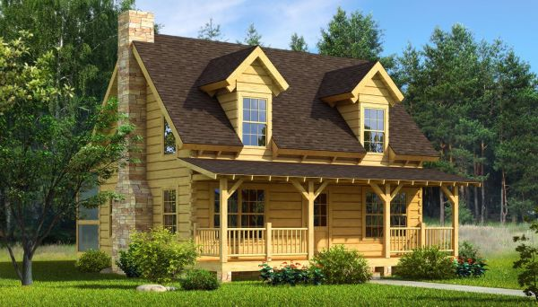 Mountain Laurel - Log Home Cabin Plans- Include