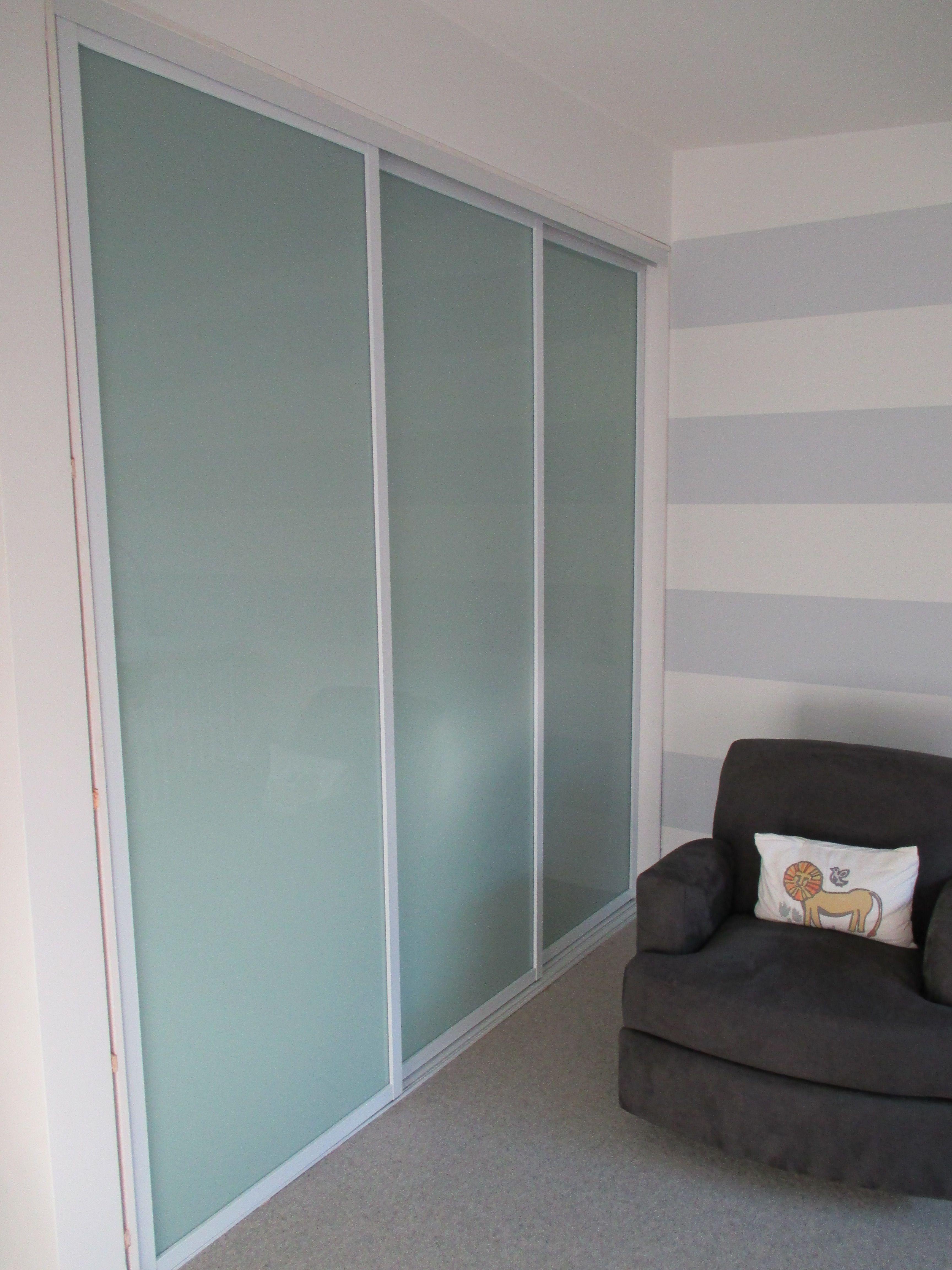 Simple Sliding Closet Doors Three Panel Home Decor