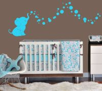 Elephant Bubbles Nursery Wall Decal Set Great Shower Gift ...