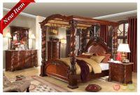 Castillo De Cullera Cherry Queen Size Canopy Bedroom Set ...