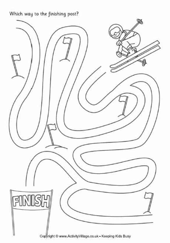 Sochi Olympic Torch Coloring Page