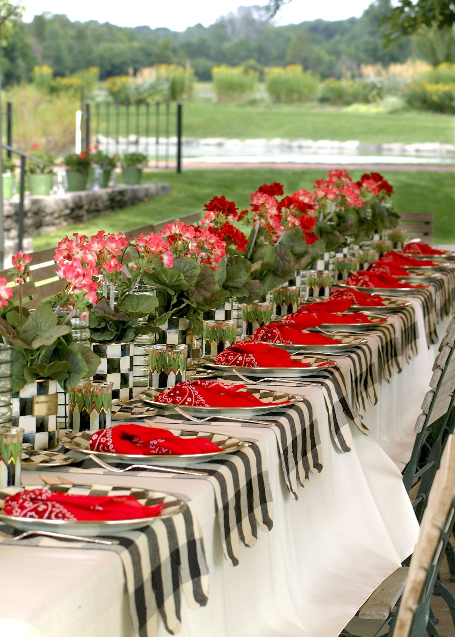 Ideas For Garden Party Themes Gardens Tables And Checker