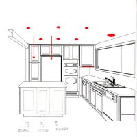 recessed lighting kitchen layout