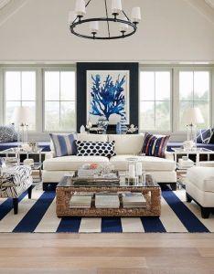 Hamptons elegance in navy coastal style living roomshamptons also the best beach pendant lighting ideas on pinterest rh uk
