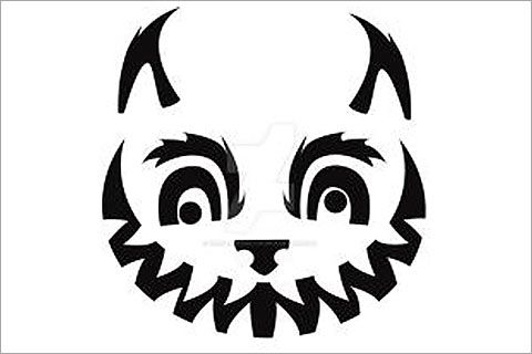 33 Hair-Raising Cat Pumpkin Stencils for a Sinister