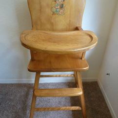 Antique High Chairs Wooden Folding Ikea Vintage Heywood Wakefield Chair Collectible Nursery