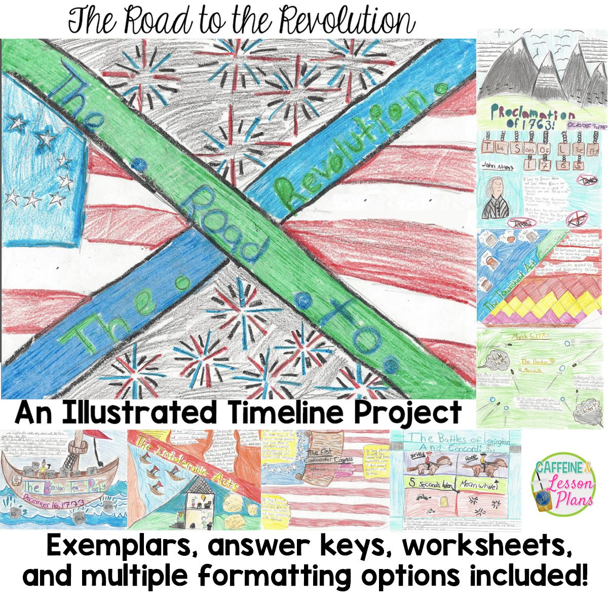 Road To The Revolution An Illustrated Revolutionary War Timeline Project