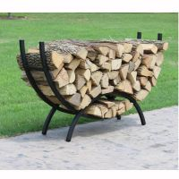 Crescent-Shaped Metal Outdoor Firewood Log Rack with ...