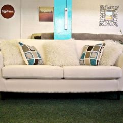 Cheap 3 Seater Sofa Bed Uk Steel Frame India New Charlie Cream Fabric Retro Style With