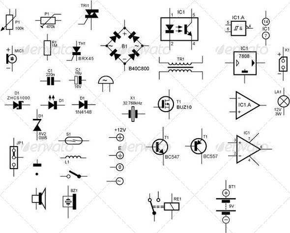 electronic circuit font