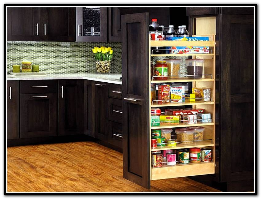 Kitchen Pantry Cabinet With Pull