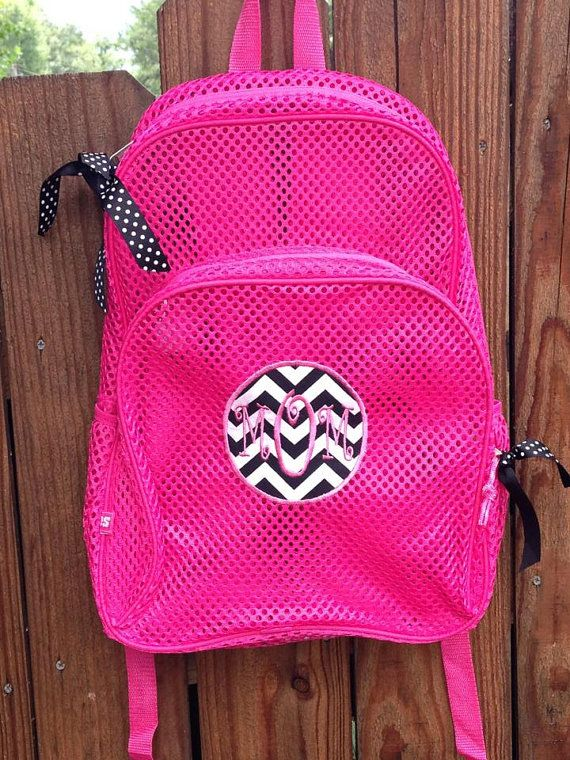 Hot Pink Mesh Backpack with Zebra Print Patch by