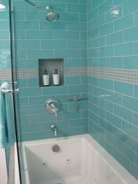 "Aqua Glass 4"" x 12"" Subway Tile 