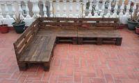 Pallet Patio / Terrace Sectional Furniture | Pallet ...