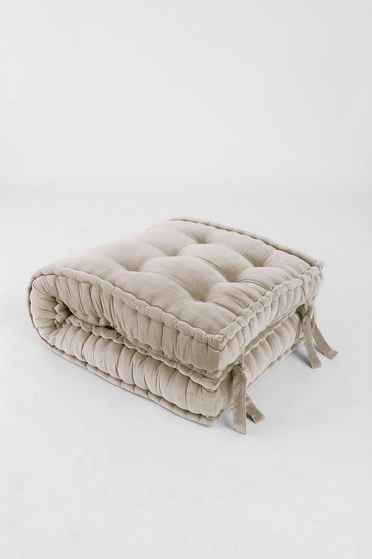 Solid Velvet Floor Cushion  Home  Pinterest  Sitting