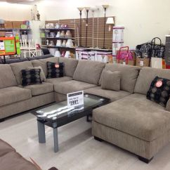 Big Lots Brown Sectional Sofa Leather Fabric Sofas Mix John And I Actually Both Liked This
