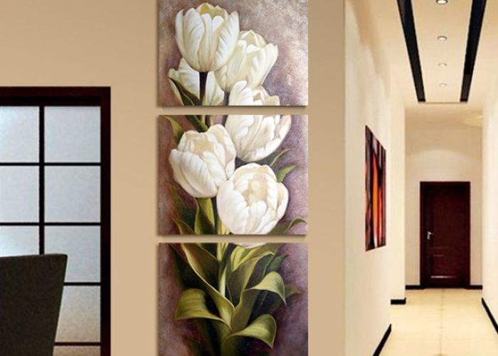 piece oil painting living room modern wall flower decorative art pictures print on canvas no frame also unidades de pintura al leo moderna sala estar pared