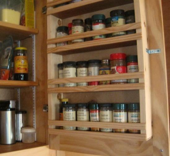 cabinet door spice rack
