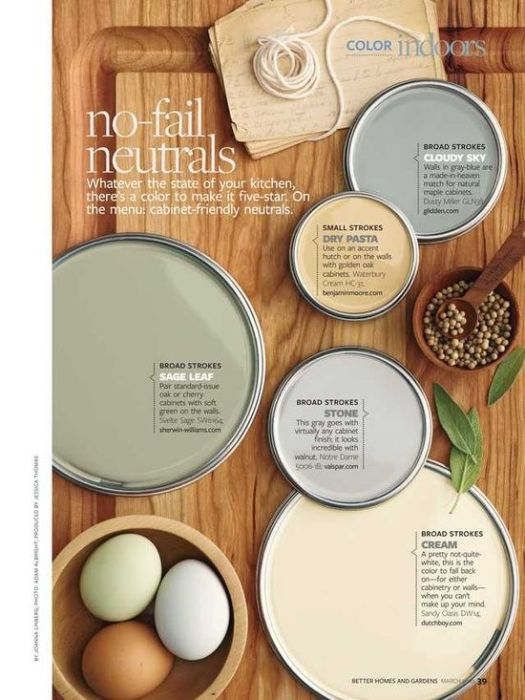 Better Homes And Gardens Paint Pallets Pretty Colors March 2010 Page 39 For Painting Walls Things