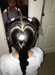 heart shaped braid.hairstyles
