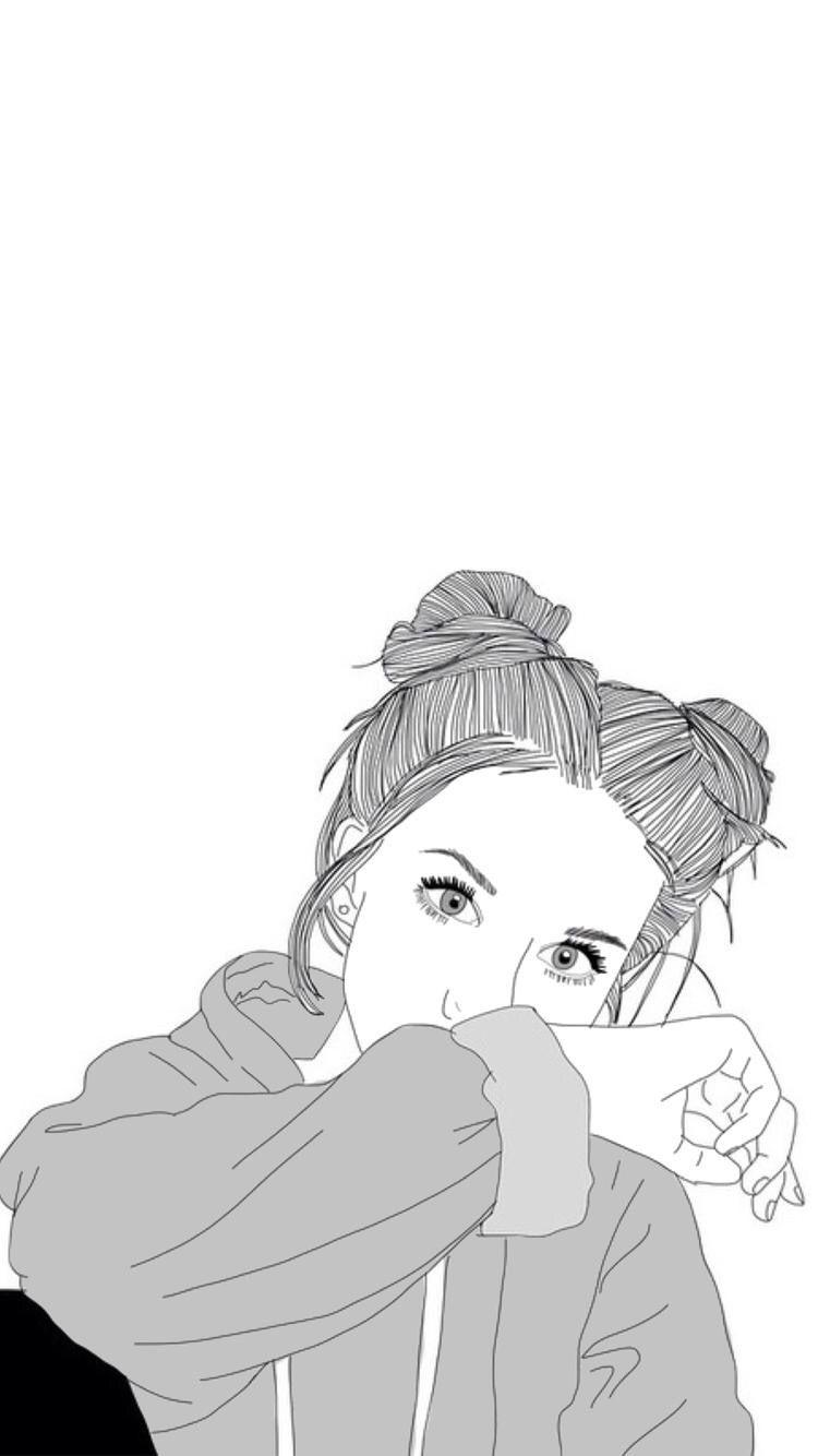 Bff Tumblr Drawing Wallpaper Girl