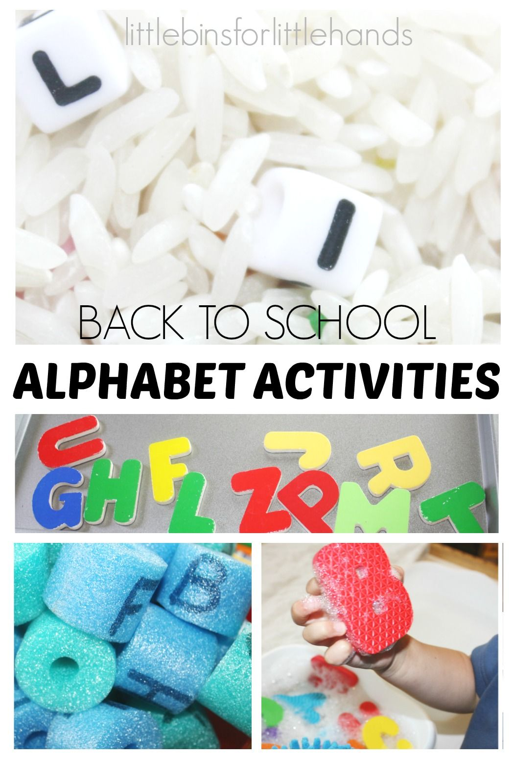 Alphabet Activities Back To School For Kids