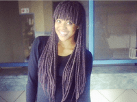 Box Braids With Bangs - Black Hair Information Community ...