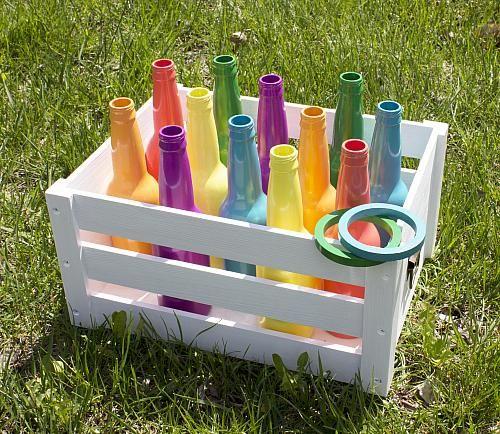 Recycled Bottle Ring Toss Backyard Game  Take the fun