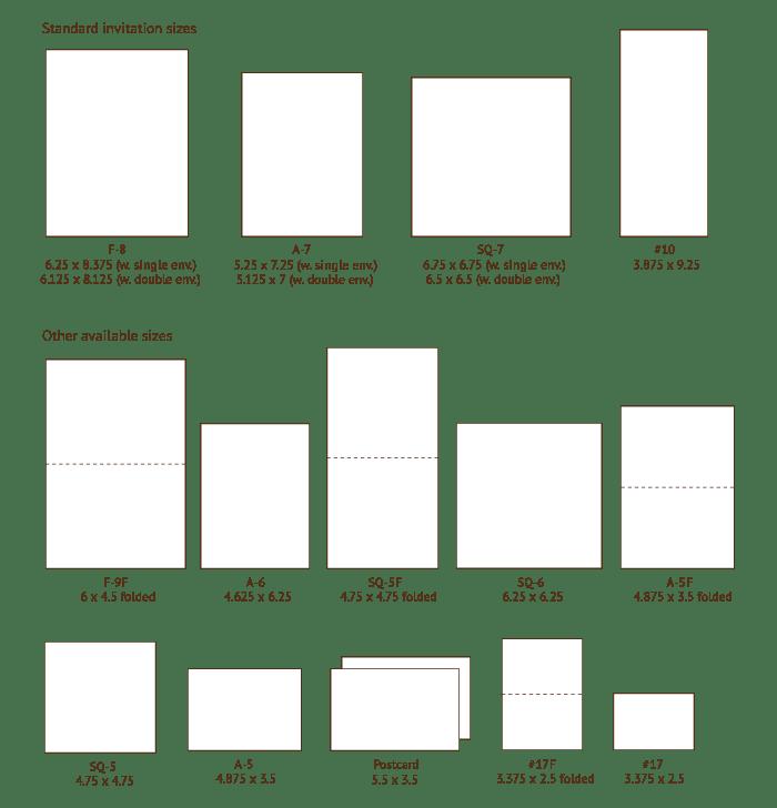 response card envelopes size