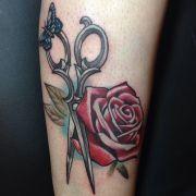 scissors tattoo ink