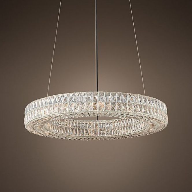 Modern Vintage Luxury K9 Crystal Chandelier Lighting Round Cristal Candle Chandeliers Pendant Hanging Light For Home