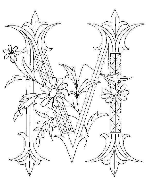 Free Printables: Illuminated M, B & A Monogram Initials