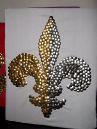 Two Color Thumbtack Fleur de Lis | My Thumbtack Art Pieces ...