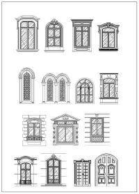 Ornamental Door & Window Bundle  CAD Design