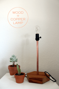DIY copper and wood table lamp using electrical components ...