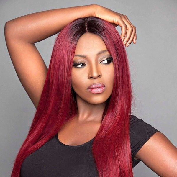 Yvonne Okoro Love The Color On Her SHAPE Hair Style