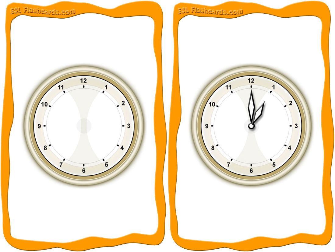 A Printable Set Of Time Flashcards For Teaching Time