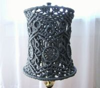 Handmade Macrame Small Lamp Shade for Small Table by ...