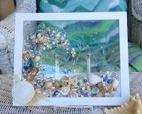 Sea Glass Art for Beach Decor Beach Glass Art of Wave made ...
